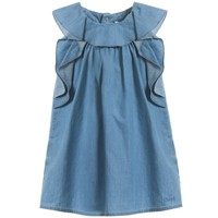 Baby Girls Blue Chambray Dress