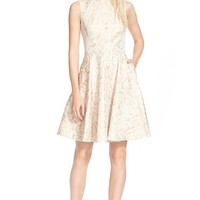 Women's Ted Baker London 'Azraa' Snake Jacquard Fit & Flare Dress,