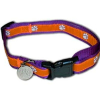 Clemson Tigers Premium Dog Collar - Large