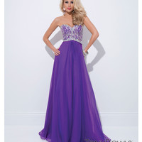 (PRE-ORDER) Tony Bowls 2014 Prom Dresses - Purple Chiffon & Beaded Bodice Sweetheart Prom Dress