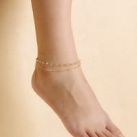 Gift New Arrival Shiny Sexy Jewelry Ladies Cute Accessory Stylish Simple Design Beach Yoga Crystal Chain Anklet [4918825796]