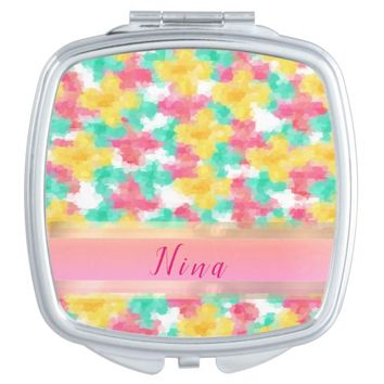 Summer Flowers Vanity Mirror