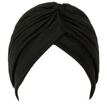 Black Bonnet Turban