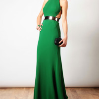Browns fashion & designer clothes & clothing | STELLA MCCARTNEY | Cut-out Detail Gown with Waist Belt