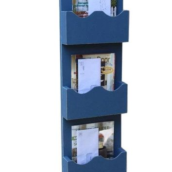 Mail Organizer - Mail Sorter - Mail and Key Holder - Magazine Holder