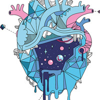 Frozen Alien Heart Sticker