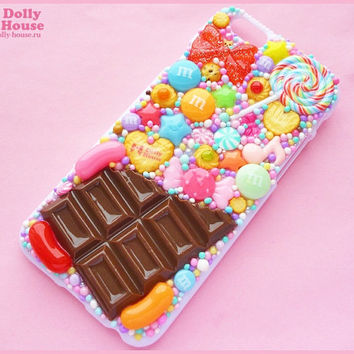 Kawaii sweet decoden iPhone 6 deco case -Chocolate and Candies-  by Dolly House