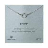 karma necklace, sterling silver - 18 inch