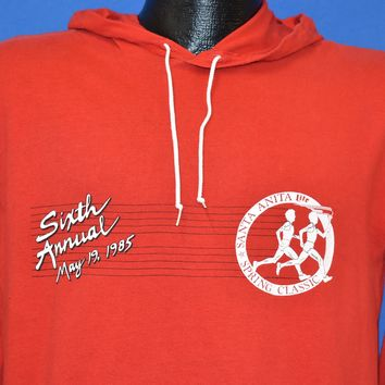 80s Santa Anita 6th Annual Spring Classic Hooded t-shirt Large