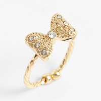 BP. Crystal Bow Ring (Juniors) | Nordstrom