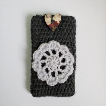 Crochet Mobile Case, Phone Case, Mobile Cover, Phone Cover, Floral Mobile Case, Floral Phone Case