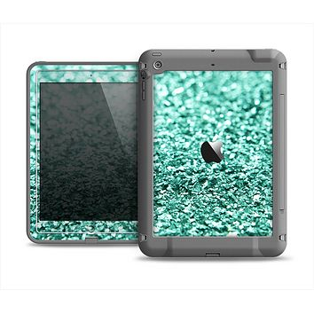 The Aqua Green Glimmer Apple iPad Air LifeProof Fre Case Skin Set