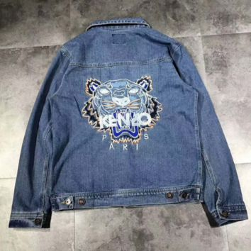 KENZO Fashion Denim blue Cardigan H-A-GHSY-1