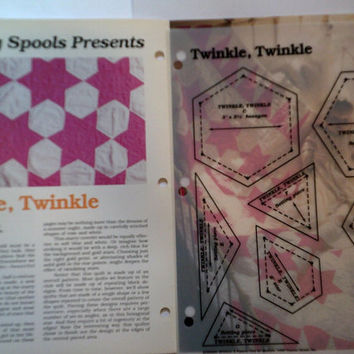 Twinkle Twinkle Star Quilt Block and Quilt sewing pattern & templates