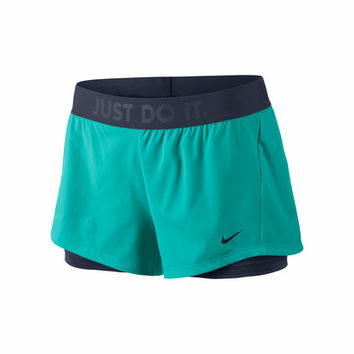 Nike Women's Circuit 2in1 Woven Short - Green-Shorts-Clothing-WOMEN'S - Sport Chalet