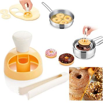 Plastic Donut Mold Cake Mold Baking Bakeware Cake Decorating Tools Desserts Bread Cutter Maker Baking Mould Kitchen Tool