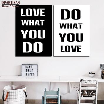 DPARTISAN Print Poster Do What You Love wall painting Motivational Quote Office Home Apartment Decor, Frame Not included