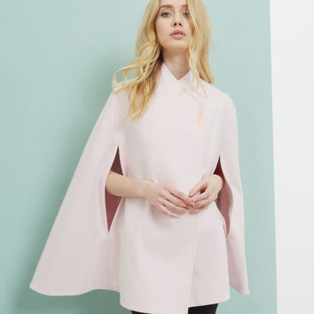 Wool wrap over cape - Baby Pink | Jackets & Coats | Ted Baker