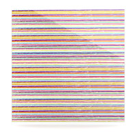 """Nika Martinez """"Summer Stripes"""" Abstract Luxe Square Panel"""