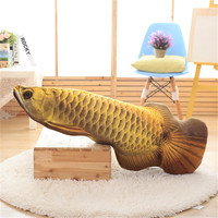 Gold Arowana plush fish pillow cartoon plush toys stuffed animals cushion toys for kids long pillow Christmas gifts 3 Color