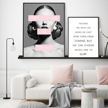 Fashion Quote beauty dressing room office art wall inspirational Vogue print