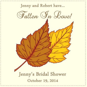 Fall Bridal Shower Favor Tags