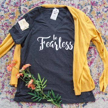 Be Fearless Relaxed Ladies Vneck