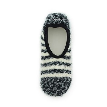 Rugby Striped Warm & Fuzzy Bootie Women's Slippers l Teen Slippers