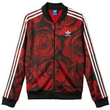 adidas Originals Red Clash Track Top - Women's at Lady Foot Locker