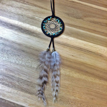 Turquoise Dream Catcher Mini, Black