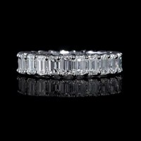 4.95ct Diamond 18k White Gold Eternity Wedding Band Ring