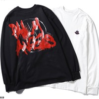 Moncler Genius x Palm Angels hot casual couple graffiti printed thin long sleeve