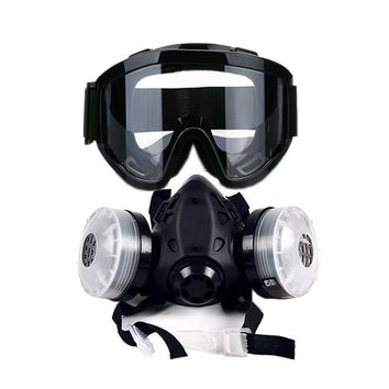 Gas Mask Anti-fog Glasses N95 Chemical Filter Breathing Respirators FREE SHIPPING!