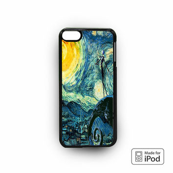 Nightmare Before Christmas Art Van Gogh for custom case iPod 6