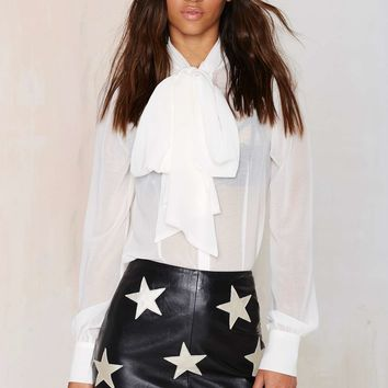 After Party Vintage Patch Perfect Leather Skirt