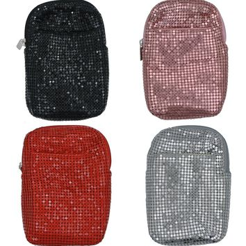 Texcyngoods Women's Mesh Cigarette Case Zippered Closure Fits Kings/Regulars with Lighter Pocket