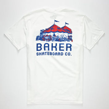 Baker Peanuts Mens T-Shirt White  In Sizes