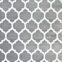 2903 Gray Moroccan Lattice Area Rugs