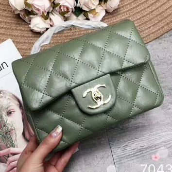 Chanel 2018 new women's exquisite luxury handbag F-AGG-CZDL Green