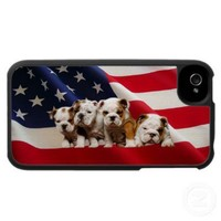 Bulldog Puppies iPhone 4 Case from Zazzle.com