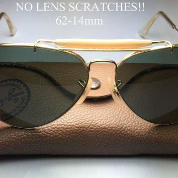 Early 80s B&L Ray-Ban USA Outdoorsman Sunglasses BL etching 62-14 mm