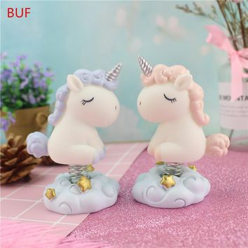 Small Unicorn Statue Resin Craft Figurine Handmade Home Decoration Ornament Cute Car Decor Resin Unicorn