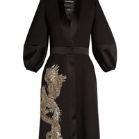 Phoenix and dragon-embellished kimono dress | Alexander McQueen | MATCHESFASHION.COM US