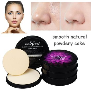 Brand Foundation Oil-control Moisturizer Face Pressed Powder Concealer Base Primer Makeup Powder Cosmetics with Puff