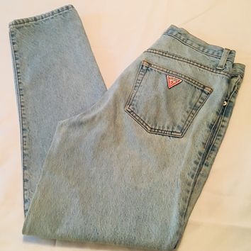 Vintage 80's Guess George Marciano Jeans Size 32 Lightly Washed Great Condition
