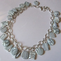 Printed Shell Charm Necklace
