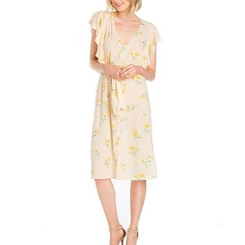 BETSY PALE YELLOW DRESS