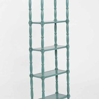 Margot Tall Spindle Bookcase- Turquoise One