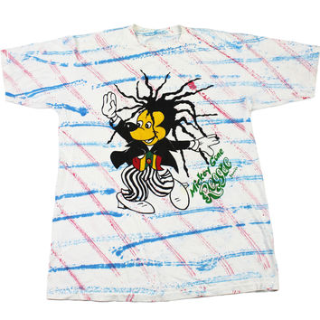 Vintage 90s Mickey Mouse Gone Reggae Jamaica Bootleg Tee Mens Size Large