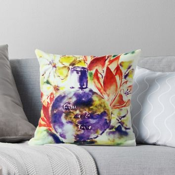 'Eau de la Terre' Throw Pillow by AdrianaMijaiche
